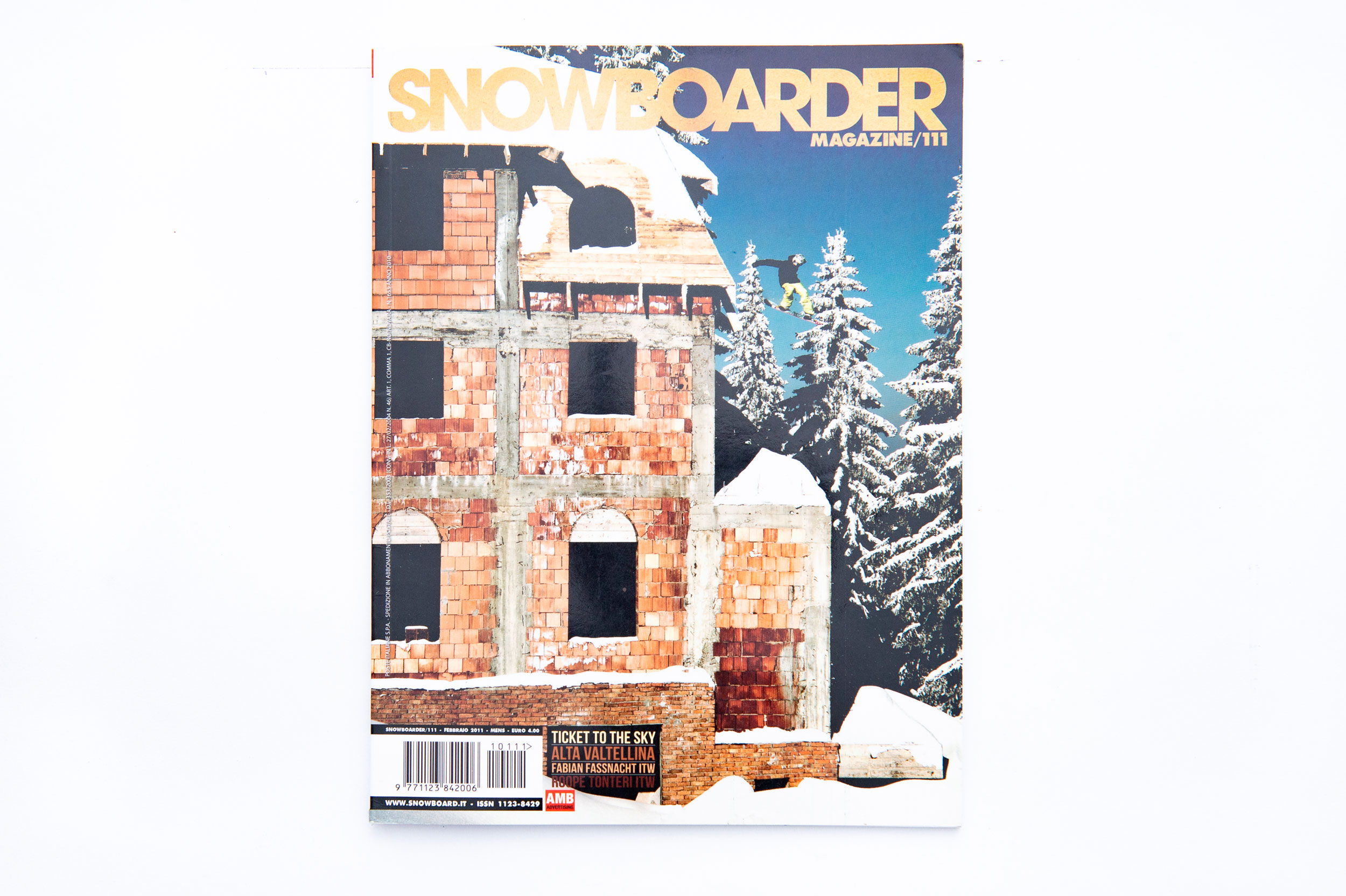 Fabian Fassnacht, Snowboard Magazine, Referenze, Editorial, Cover